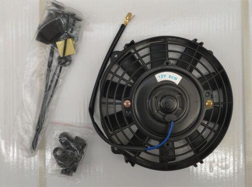 """7/"""" UNIVERSALE Elettrico Ventola Radiatore Acqua Ventola Radiatore Spingere trascinare 12v 80w"""