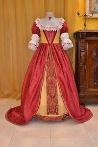 Costume-di-Scena-Abito-Storico-Abito-d-039-Epoca-Costume-Storico-Barocco-1600-BM01