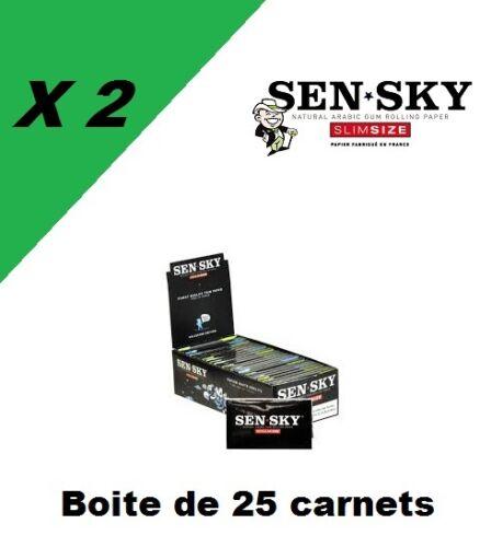 Sensky regular 2 box de 25 carnets de feuille à rouler courte