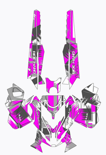 Ski Doo REV XM Graphic Kit Wrap Decals Stickers Tunnel Shred Design B.A.W