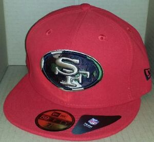 7c378185 Details about NWT NEW ERA San Francisco 49ers 59FIFTY size 7 1/4 fitted nfl  cap hat football