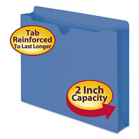 Smead Colored File Jackets With Reinforced Double-ply Tab Letter 11 Pt Blue 50