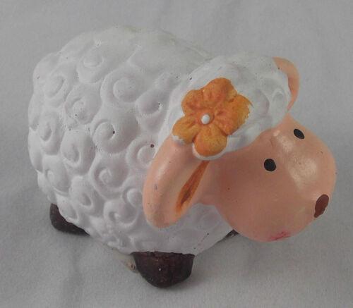 Pâques printemps mouton avec Orange Fleur Blanc//Orange osterdeko DECO NEUF