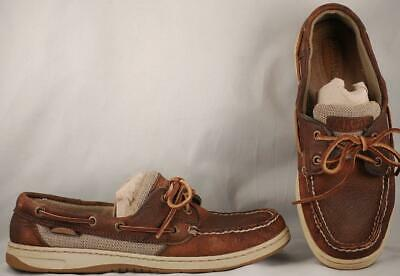 Competent Women's Sperry Top-sider Billfish Brown Leather Boat Shoes 8 M Vivid And Great In Style Comfort Shoes Women's Shoes