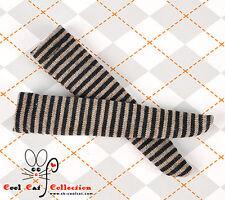 ☆╮Cool Cat╭☆【KS-86】Blythe/Pullip(1/6)Doll Knee Socks #Thin Stripe Black+Brown