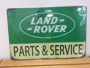 land rover parts & service vintage retro metal tin plaque sign - uk