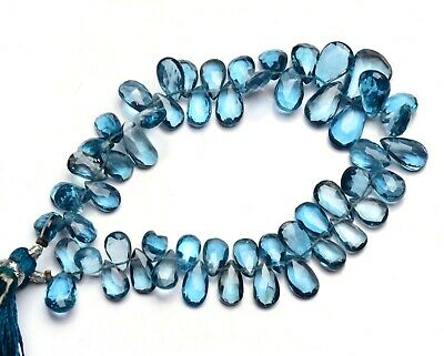 10 pieces London blue topaz gemstone faceted pear shape gemstone,size 13x18,side drilled gemstone,topaz gemstone pear for making jewelry