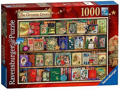 NEW! Ravensburger The Christmas Library by Aimee Stewart 1000 piece jigsaw 19801