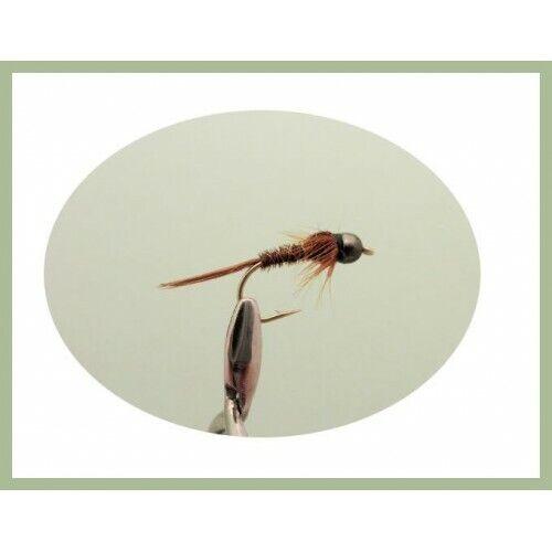 Fishing Flies Size 10-12 Trout or grayling 18 Tungsten Bead Nymph inc Perdigon
