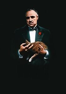 THE-GODFATHER-Movie-PHOTO-Print-POSTER-Marlon-Brando-Textless-Film-Art-Co-002