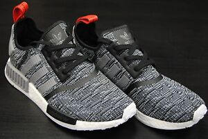 Men 's Adidas NMD R1 Glitch Camo Solid Gray BB 2886 Size 11
