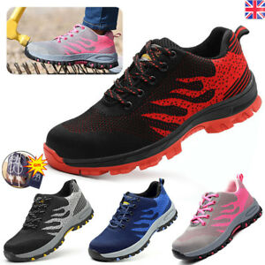 WOMENS SAFETY BOOTS STEEL TOE CAP WORK LIGHTWEIGHT SHOES TRAINERS Breathable
