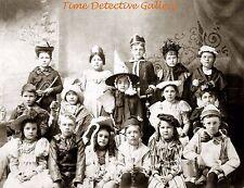 Kids in Halloween Costumes - 1890 - Historic Photo Print