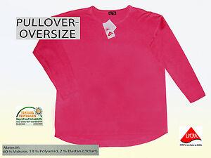 Damenpullover-Pulli-Pullover-Oversize-Lachsfarben-Gr-L-VISKOSE-NEU