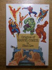 FIRESIDE: STAN LEE'S ORIGINS OF MARVEL COMICS, 1974, SC, UNREAD DEAD-STOCK!!!