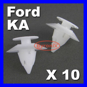 FORD-KA-BUMPER-CLIPS-TRIM-PLASTIC-FIXING-CLIPS-FRONT-REAR