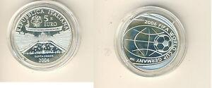 Italie 5 Eur 2004 Coupe Du Monde de Football 2006 en Allemagne Pp Argent