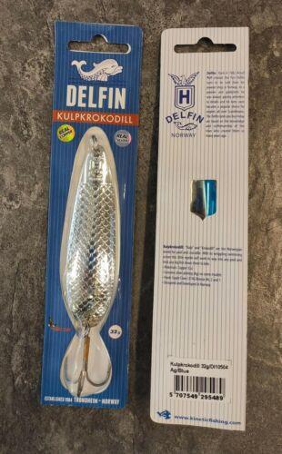 Delfin Kulpkrokodil 32g Ag//Blue Salmon Lure Norway