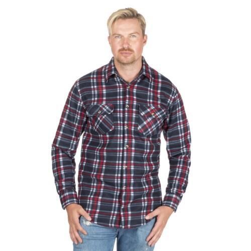 Hombre Magneto Vellón Pulido Camisa de Leñador Trabajo Exterior Informal