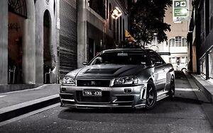Good Image Is Loading Nissan GTR R34 Skyline HD Art Poster 24x46in  Design