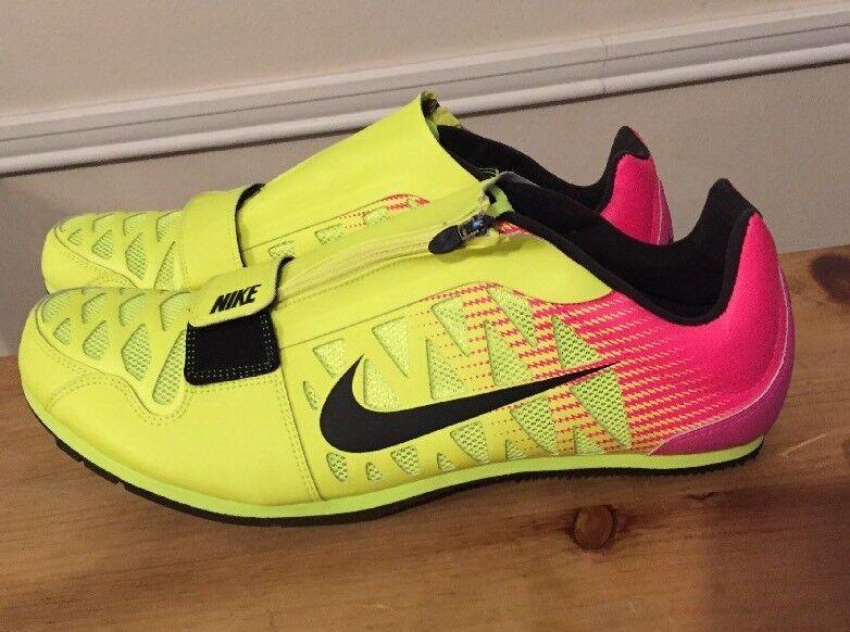 Nike Zoom LJ 4 Long Jump Track Shoes Spikes SIZE 14 Volt Pink Black 415339 999