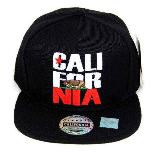 California Bear hat cap embroidered Adjustable Snapback Baseball cap Flat bill