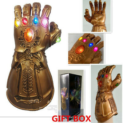 Avenge 4 Infinity War Gauntlet LED Cosplay Thanos Gloves Kid Adult Gift Cool UK