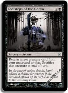 FOOTSTEPS OF THE GORYO Saviors of Kamigawa MTG Black Sorcery — Arcane Unc
