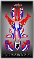 Honda Trx 450r Atv Semi Custom Graphics Kit Retro