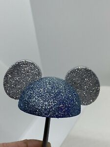 Disney-Mickey-Mouse-Blue-Silver-Glitter-Ears-Antenna-Ball-Topper