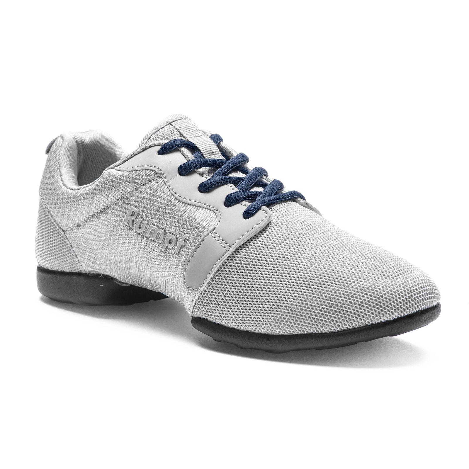 Rumpf Mojo Dance Lindy Hop Swing Tanz Trainings Schuh grau blaue Schnürsenkel