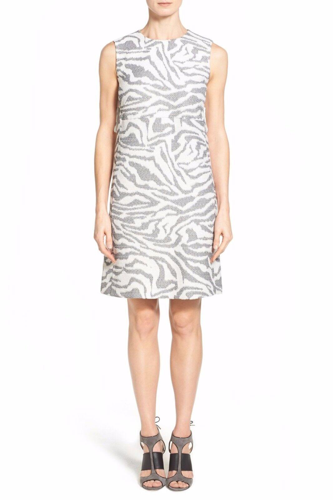 HUGO BOSS Dakola Zebra Pattern Sleeveless Dress Größe 2 NWT