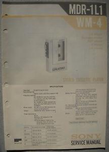 SONY-WM-4-und-MDR-1L1-Service-Manual