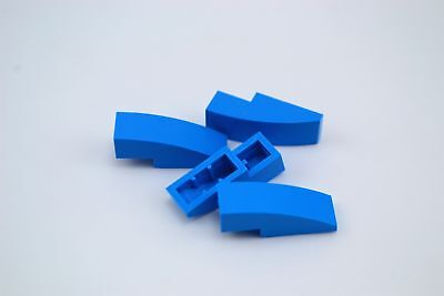LEGO Dark Azure Slope Curved 3x1 No Studs Lot of 50 Parts Pieces 50950
