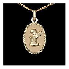 Schutzengel Anhänger Gold 333 mit Venezianerkette 40 cm Taufe Kommunion Geburt