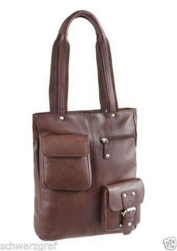 Leather Shopper BrownNieuw LeatherDamestas Country Tas Genuine 4R3A5jL