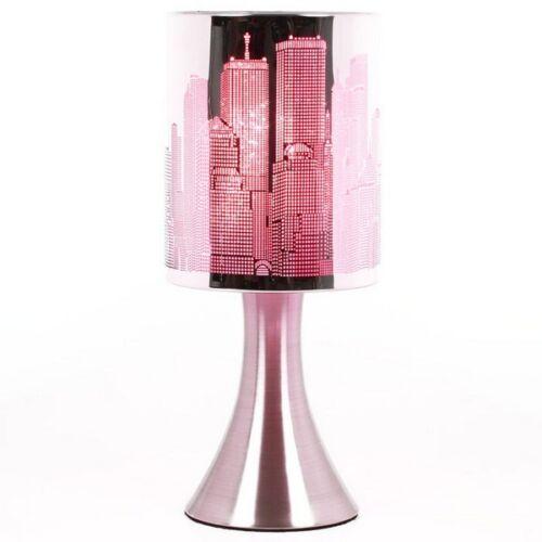 Lampe Touch New-York City avec variateur de lumière Modèle Rose