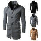 Fashion Men's Winter Casual Trench Coat Overcoat Warm Slim Long Jacket Outwear