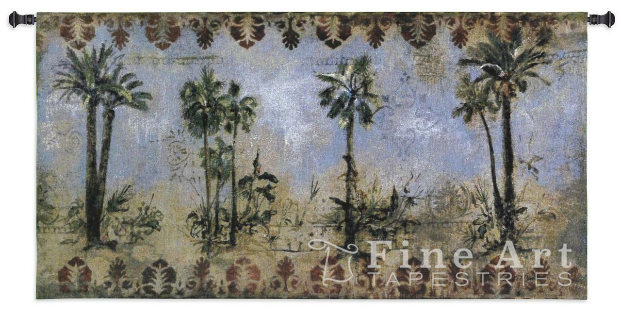 Curacao I Tapestry Wall Hanging Palm Tropical Picture 53 x27