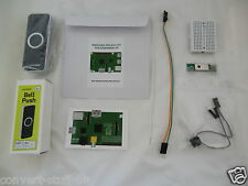 Internet Doorbell (black) project kit for Raspberry Pi.  Internet of Things IoT.