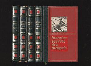 Histoire-secrete-des-maquis-en-4-volumes-ed-Cremille-de-1971