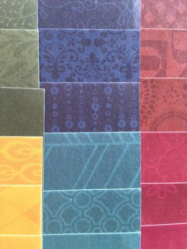 "JEWEL PHOTO MAT Paper Lot 24pc Approx.4.5/""x4.25/""Floral •Shapes•Warm Colors•Frame"