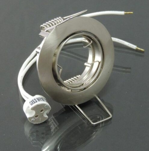 3xEinbaustrahler schwenkbar für MR11 35mm Fassung G4 Eisen gebürstet  #7880