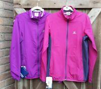 $80 Women Salomon Start Up Wind Breaker Jacket Purple Wild Berry