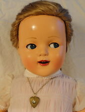 Flirty Google Eye Raynal Celluloid Girl Doll Original Clothes Hairstyle Tagged
