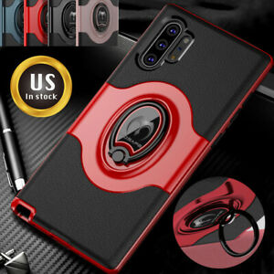 For-Samsung-Galaxy-Note10-Plus-10-5G-Shockproof-Case-Kickstand-Ring-Holder-Cover