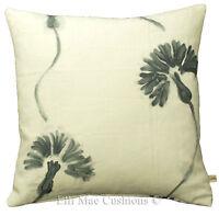 Designers Guild Shirotae Floral White Graphite Linen Cushion Pillow Cover