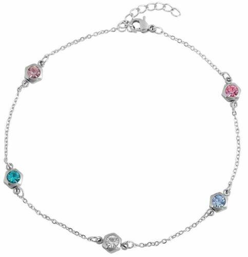 1 Paar Damen Edelstahl Ohrstecker Zirkonia Kristalle Shamballa Style Aurora Weiß