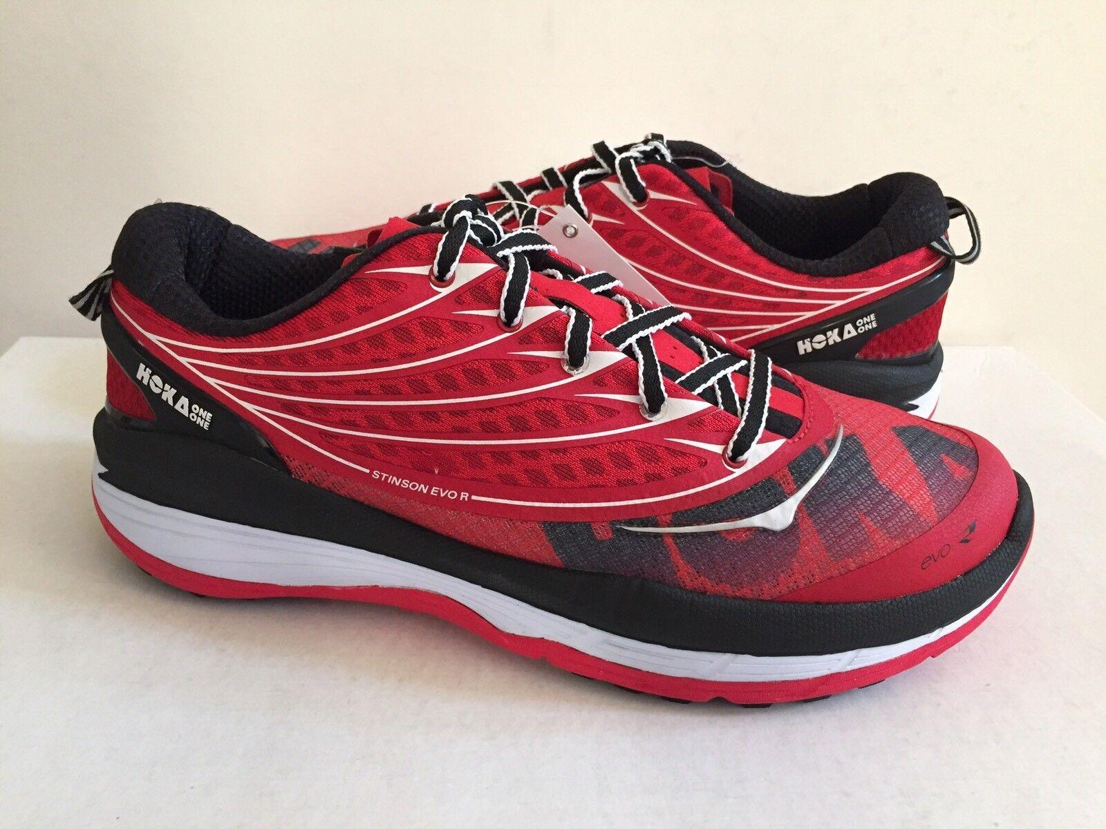 HOKA Hombres EVO SPEED verdadero ONE ONE Rojo Negro Zapato US 9  3