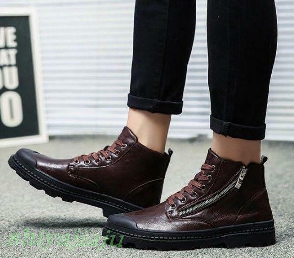 Punk Men Retro Zipper Strap Ankle Boots Youth Casual High Top Sneaker shoes Sbox